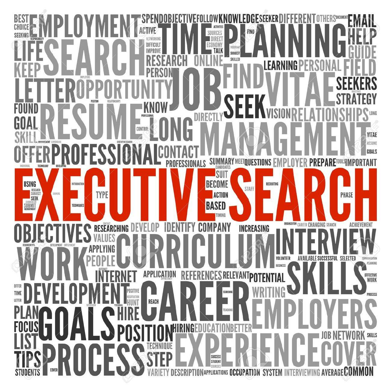 Executive search concept in word tag cloud on white background Stock Photo - 14255679