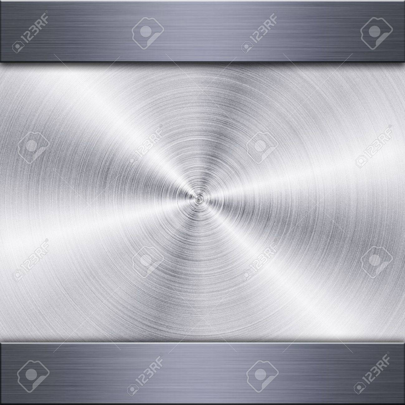 Background of brushed metal plate with reflections in circular shape Stock Photo - 14613825