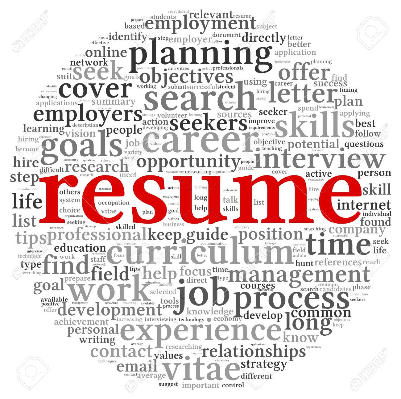 resume concept in word tag cloud on white background stock photo resume concept in word tag cloud on white background stock photo 15357592