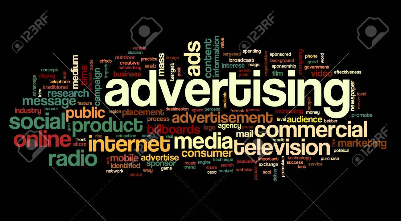 Advertising concept in tag cloud on white background Stock Photo - 16828412
