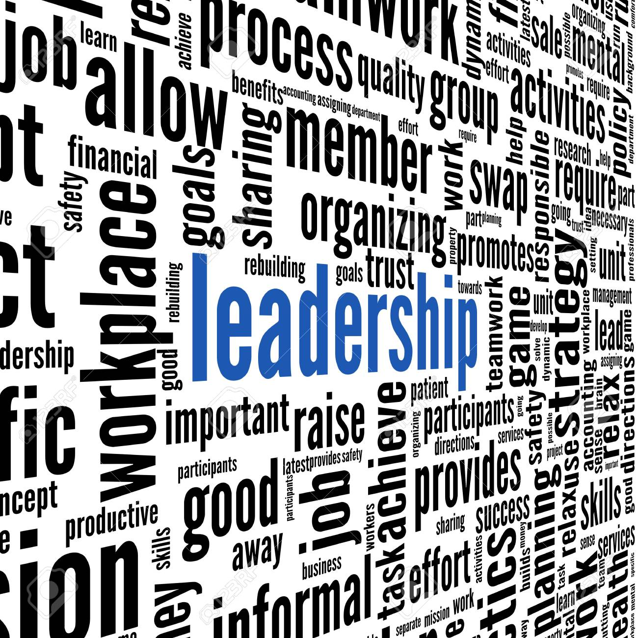 Leadership concept in word tag cloud on white background Stock Photo - 17123218
