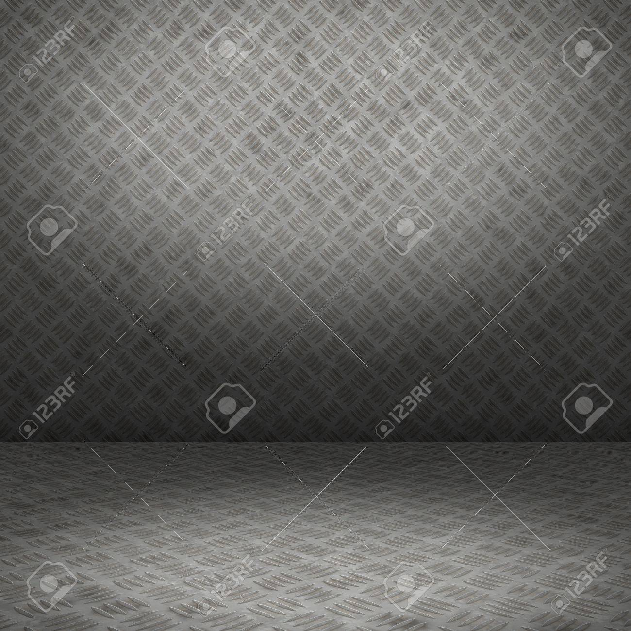 Grunge interior with metal floor and wall userful as background Stock Photo - 18518892