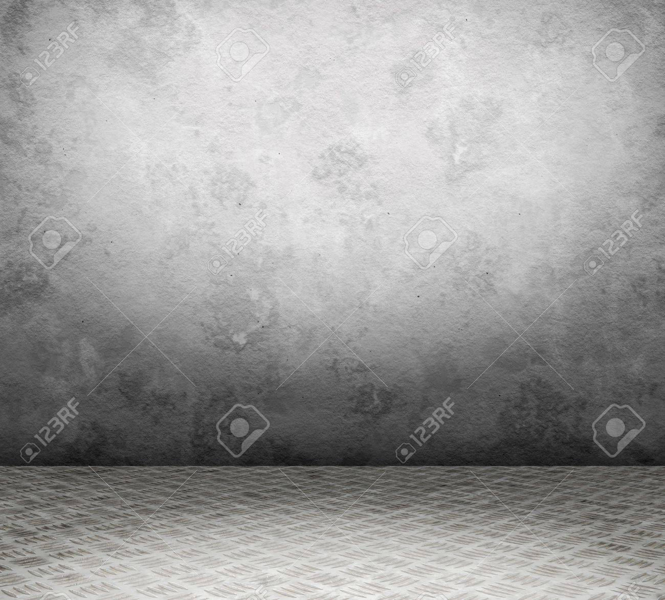 Old interior with metal floor and wall userful as background Stock Photo - 18952245