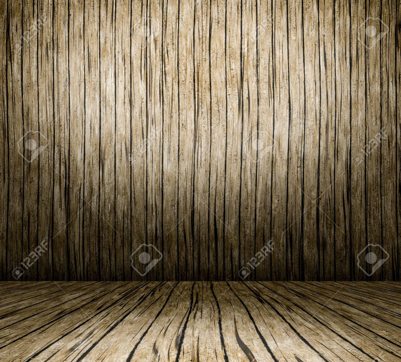 Interior with wooden floor and wall userful as background Stock Photo - 18952249
