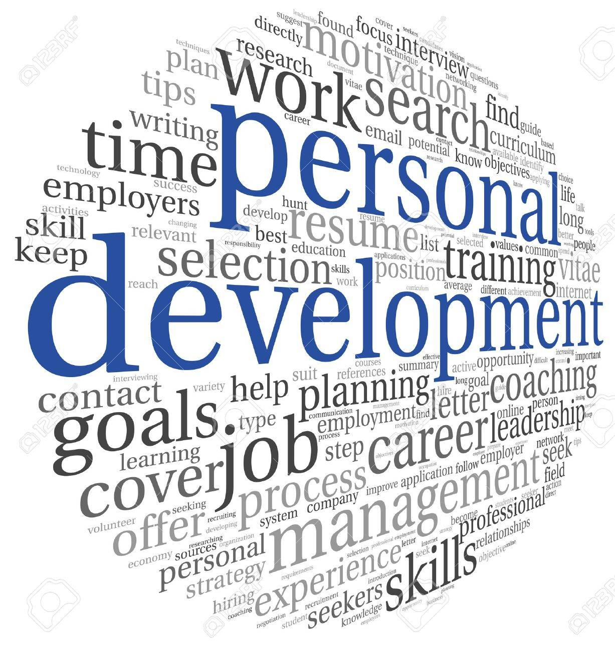 Personal development concept in word tag cloud on white Stock Photo - 21420085