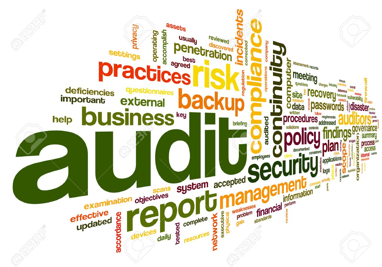 Audit And Compliance In Word Tag Cloud On White Stock Photo ...
