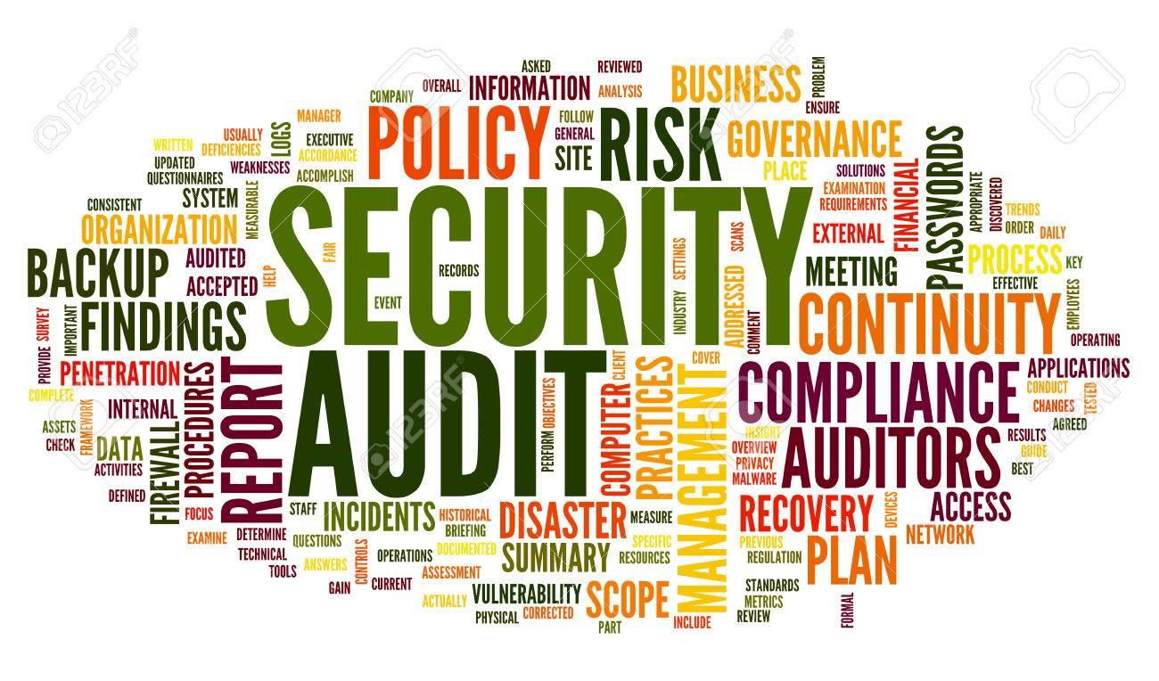 Sicherheits-Audit In Wort Tag Cloud Auf Weiß Lizenzfreie Fotos ...