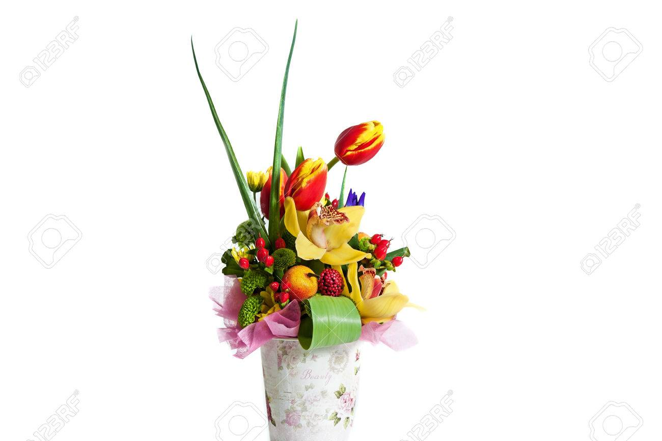 Flower Bouquet Composition For The Holiday Spring Bouquet Of