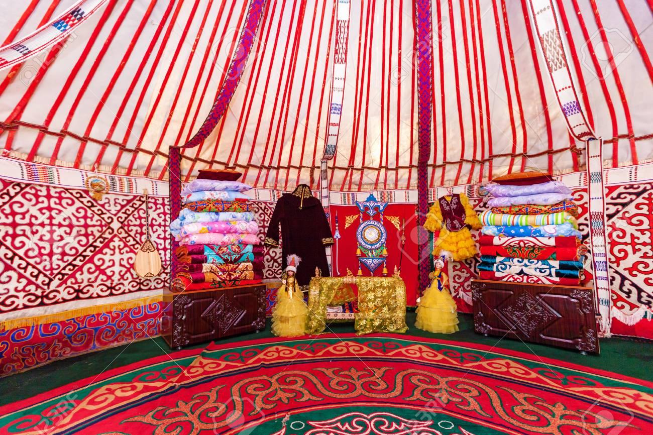 Charyn Canyon Kazakhstan July 27 Interior Of The Yurt Nomadic