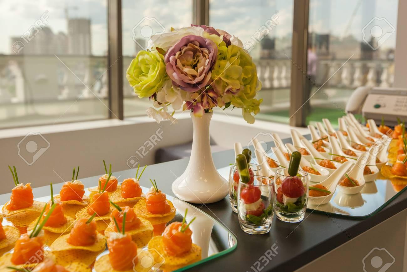 New tasty salads - festive table decoration 82