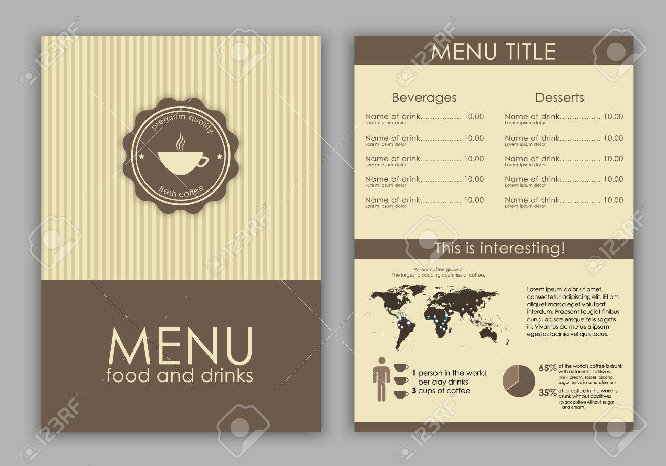 Design A Menu For Coffee Cafe Bar Restaurant In Vintage Style Royalty Free Cliparts Vectors And Stock Illustration Image 41143128
