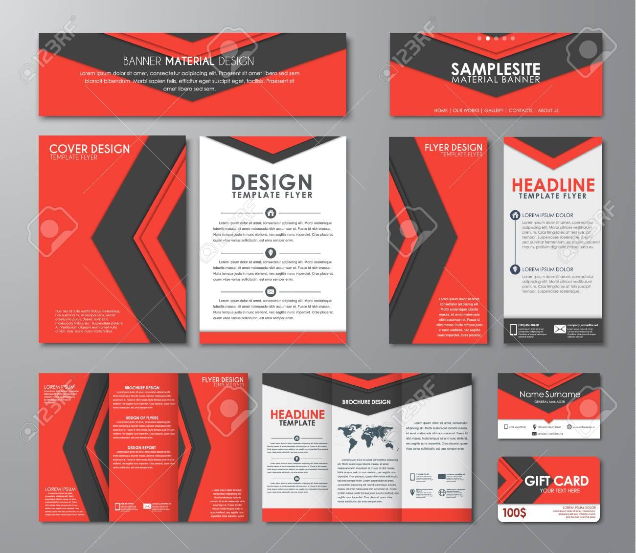 Carte Cadeau Entreprise.Identite D Entreprise Modele De Depliants Brochures Bannieres