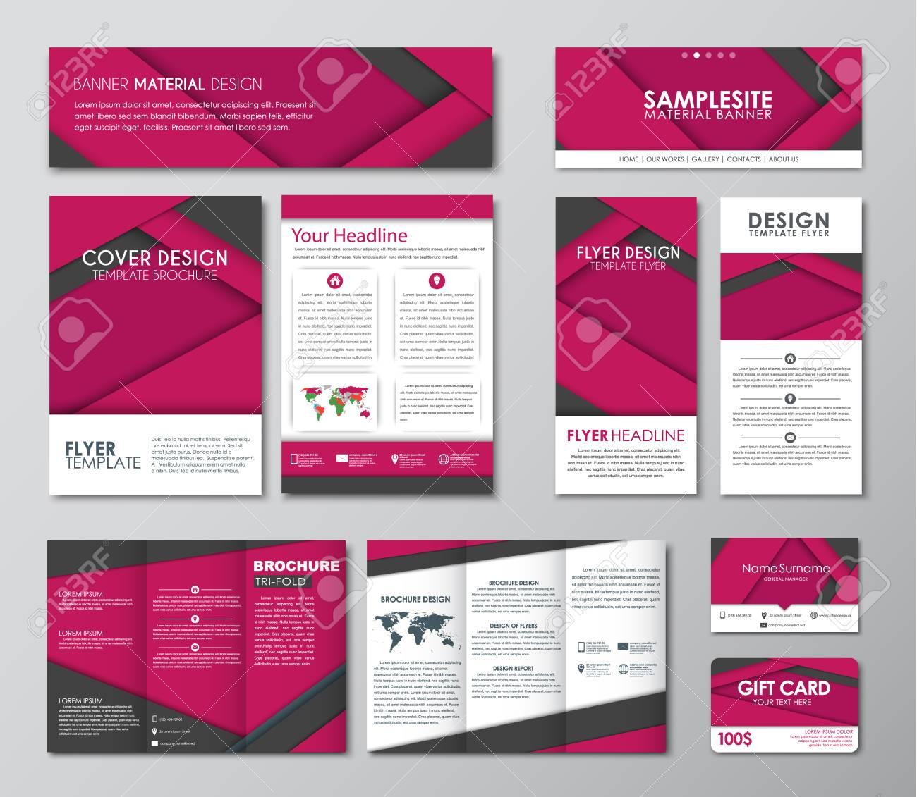Corporate Identity Design. Legen Sie Banner-Vorlagen, Broschüren ...