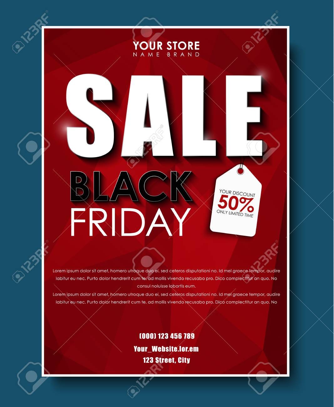 Design A Poster Flyers Banners For Sales On Black Friday Royalty Free Cliparts Vectors And Stock Illustration Image 65887387