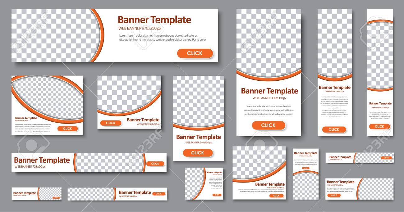 Design Web-Banner Von Verschiedenen Standardgrößen. Vorlagen Mit ...