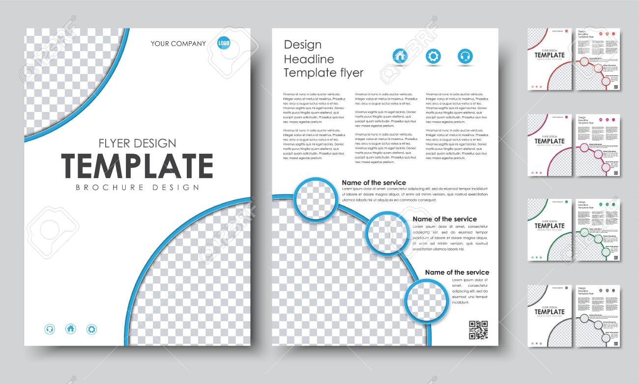 Design Color A Brochures Template Page Flyer With A Cover - 2 page brochure template