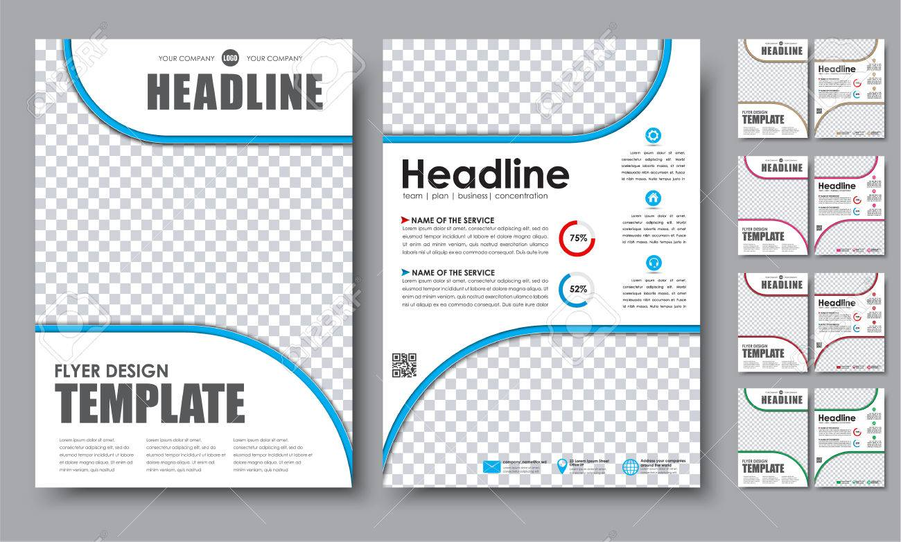 2 Page Brochure >> Design Color Flyers A4 Template 2 Page Brochure With Space For