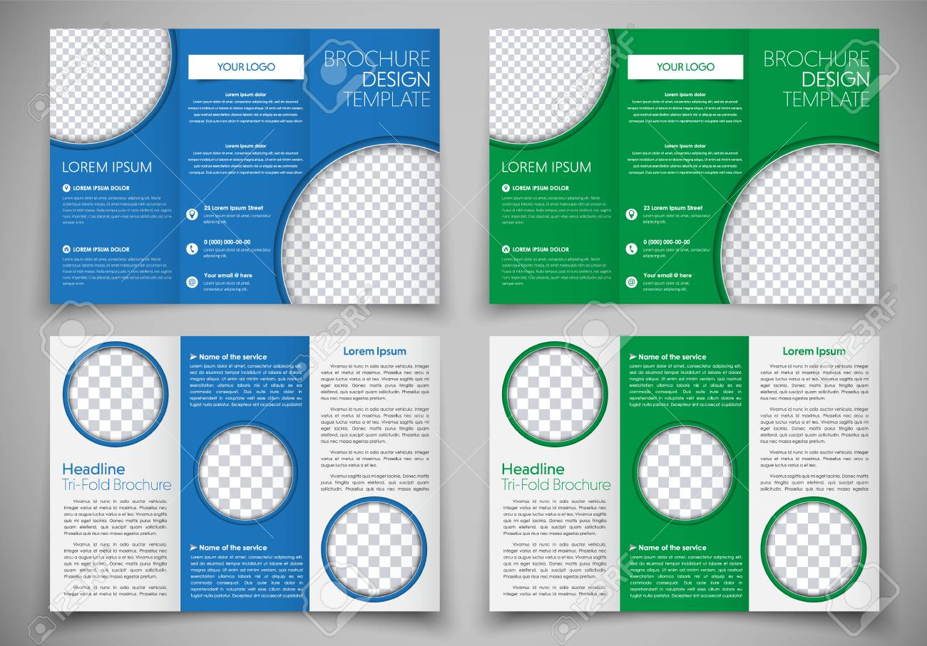 template triple folding brochure printing and advertising design