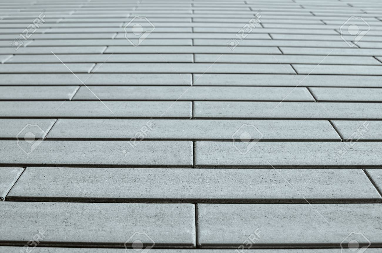 Gray Brick Wall In Perspective. Template For Design. Stock Photo ...