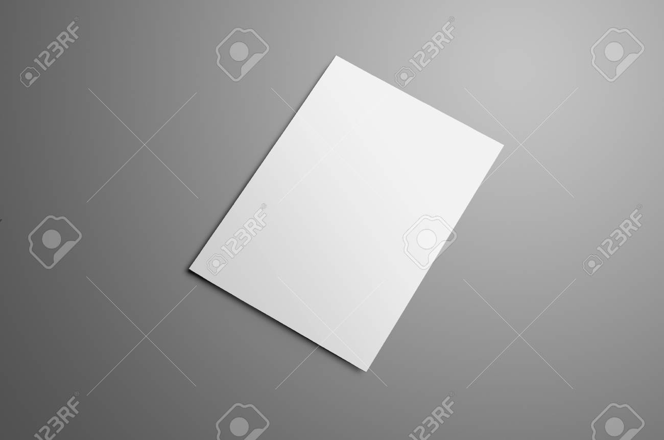 business mockup with one blank a4 a5 bi fold brochure with