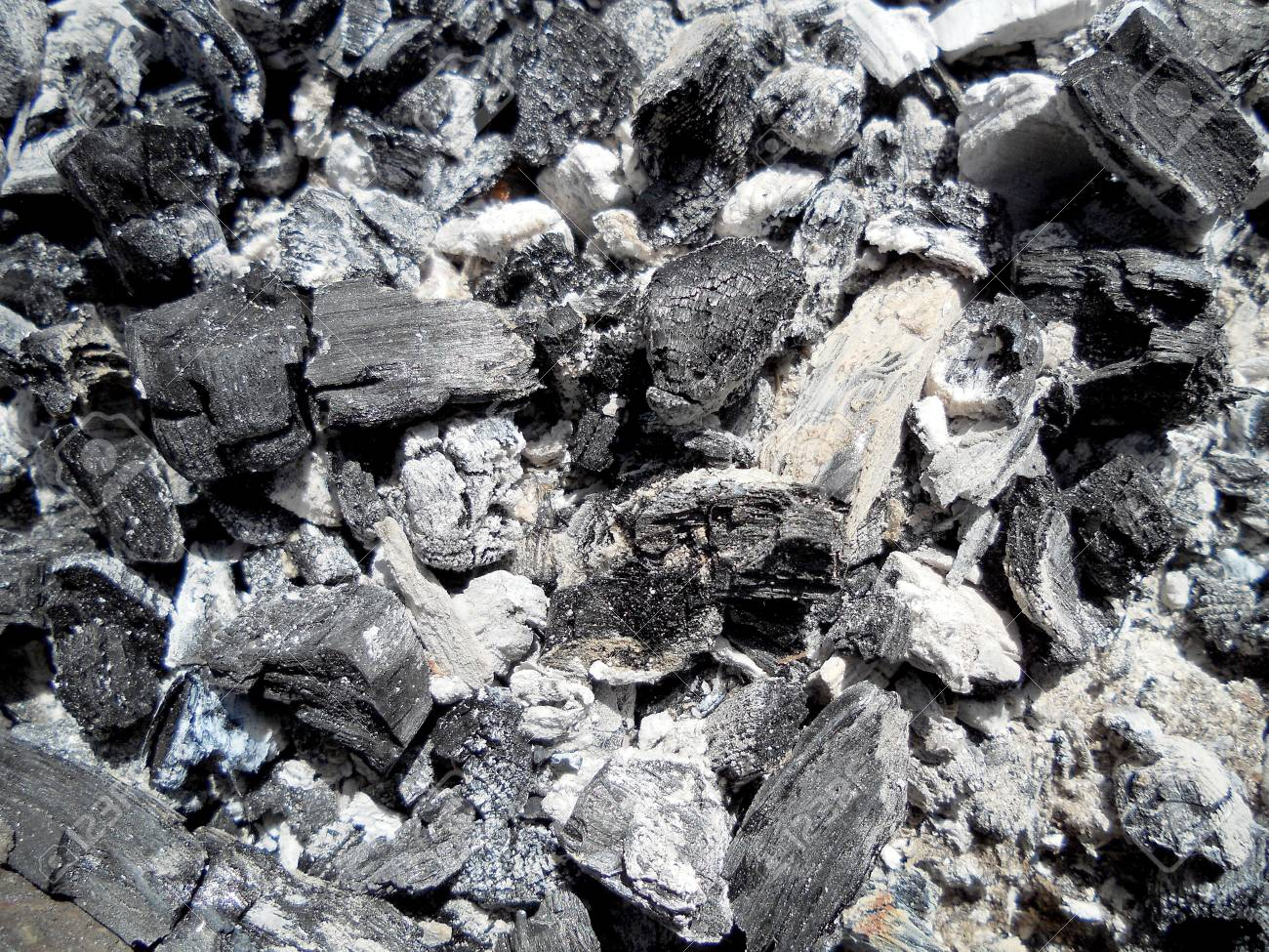 Photo Of Fire Ashes Dark Gray Black Coal Background Texture