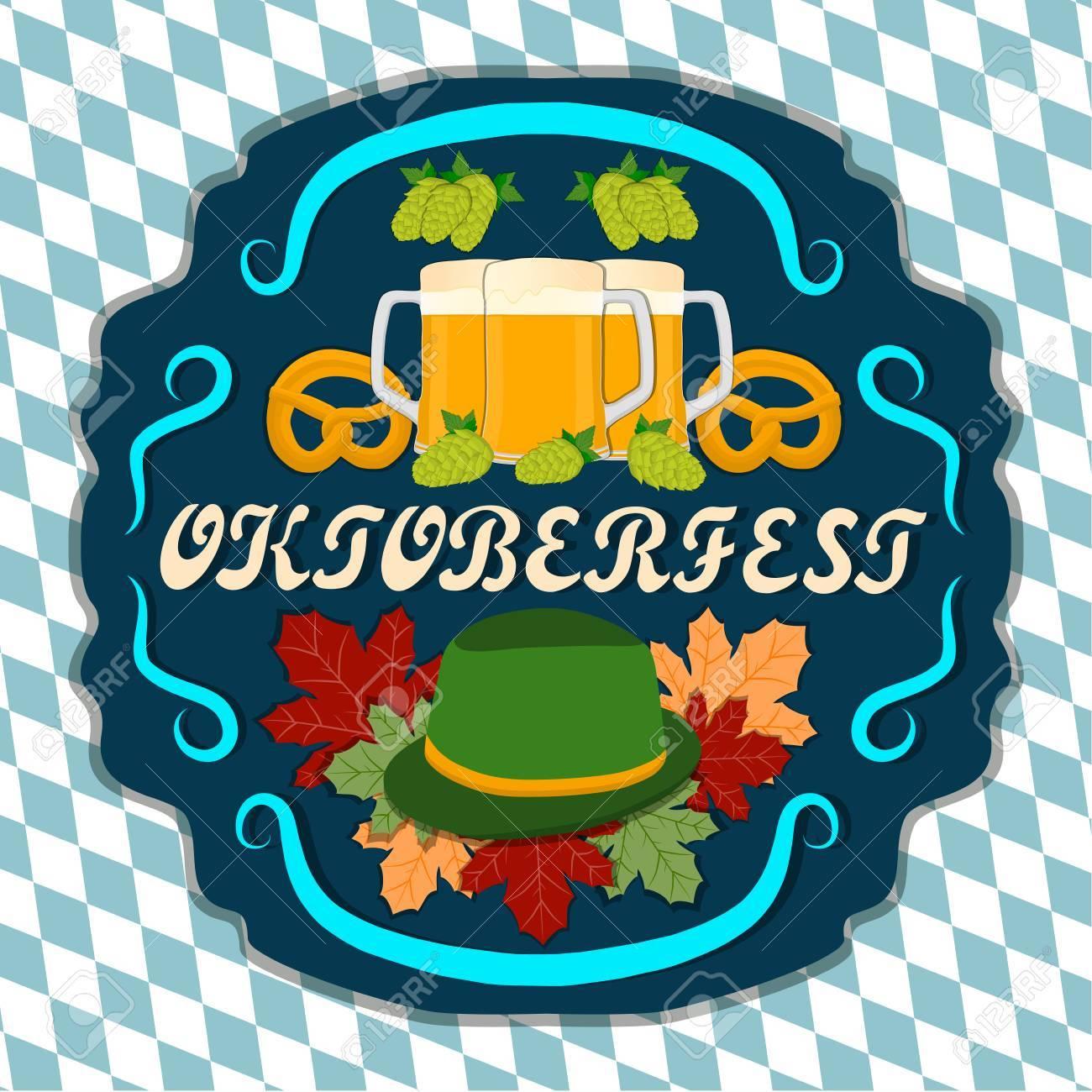 Logo Vectoriel Pour Bar Pub Oktoberfest Pub Pendant Le Verre De La