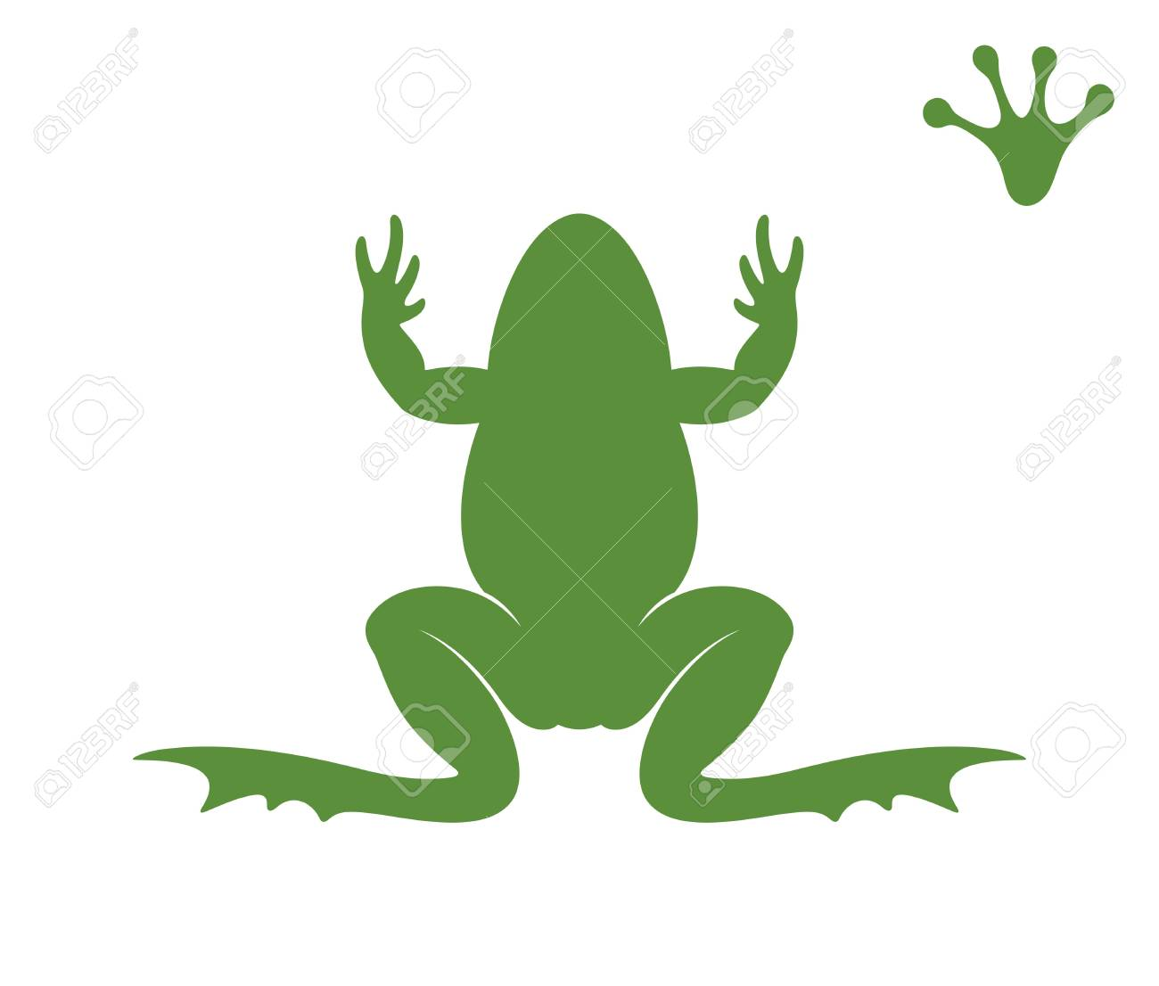 Frog Clipart Shadow - Frog Silhouette - Png Download (#3785921) - PinClipart