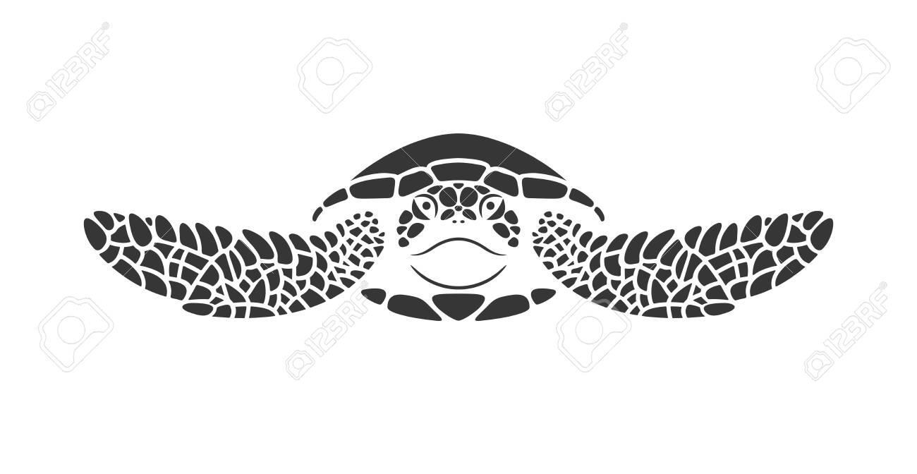 Sea turtle logo. Isolated turtle on white background. Reptile - 134470029