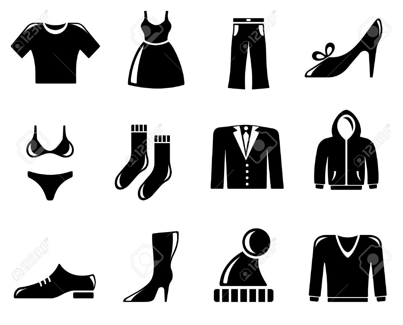 Clothing icon set Stock Vector - 13464473