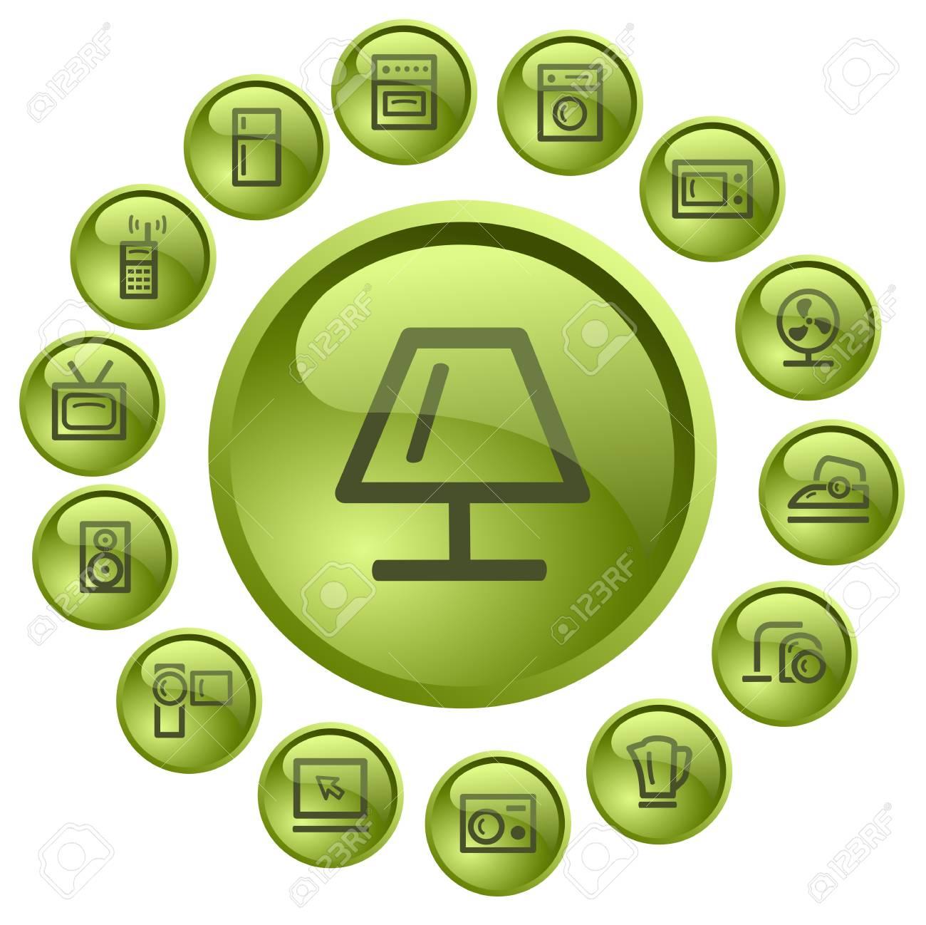 Home electronics button set Stock Vector - 13838819