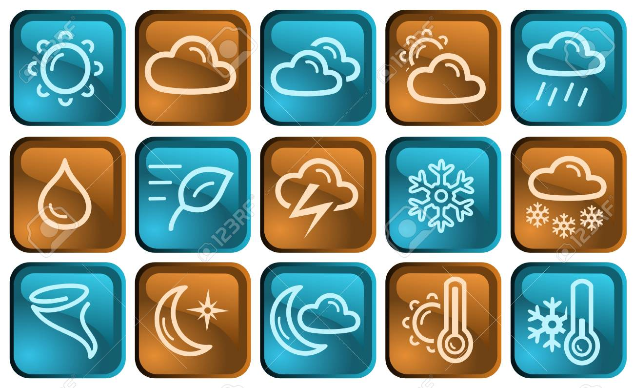 Weather button set Stock Vector - 14836869