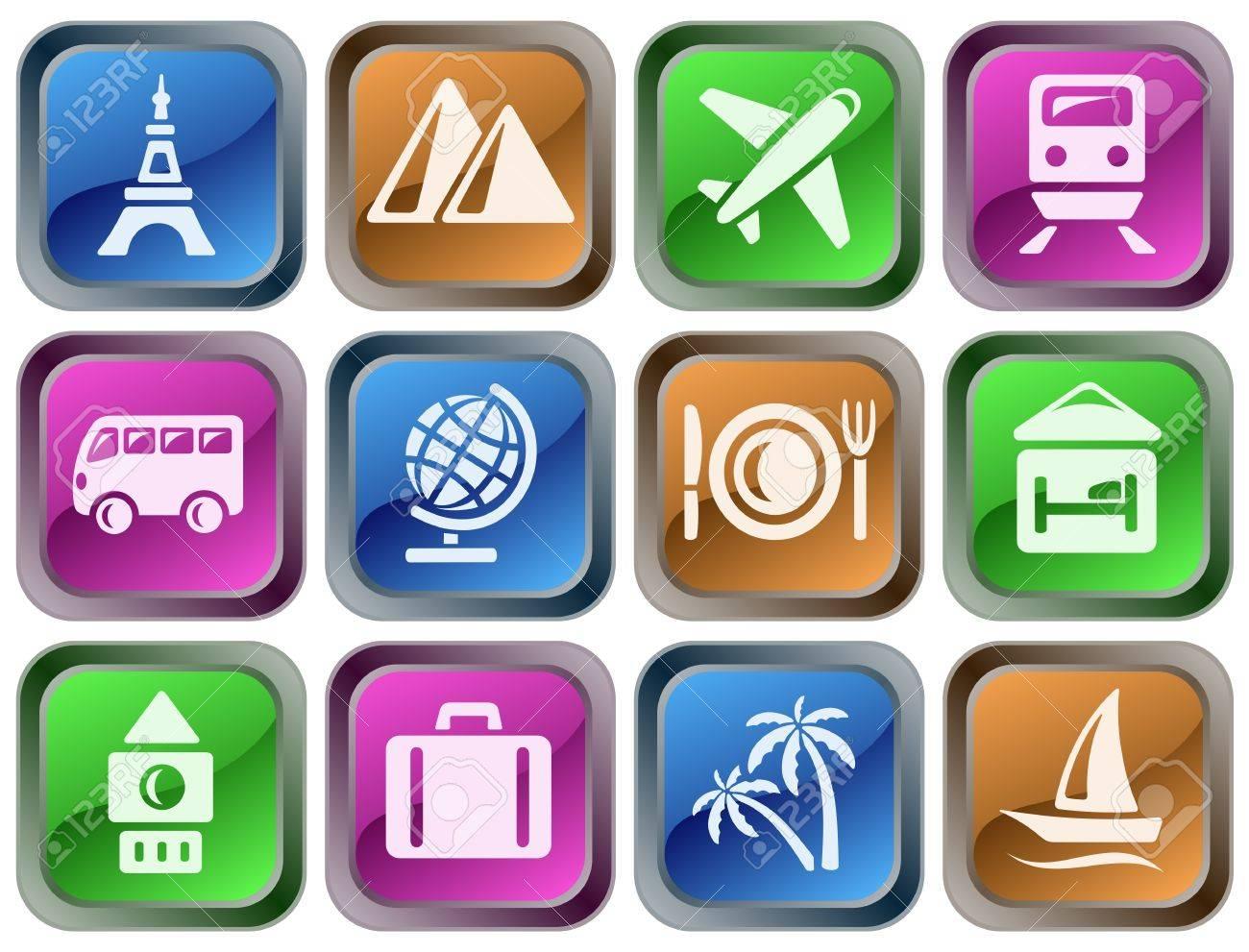 Travel button set Stock Vector - 14836849