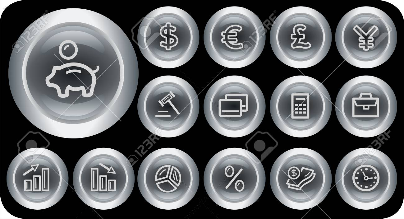 Finance button set Stock Vector - 15879244