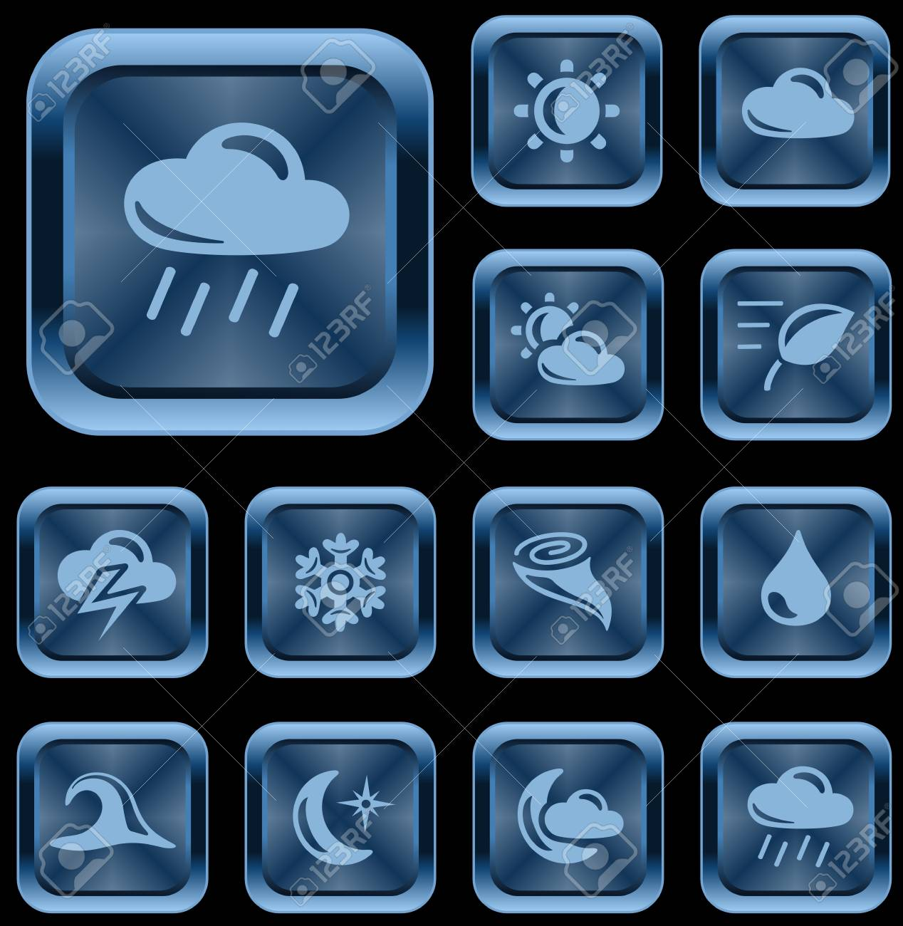 Weather button set Stock Vector - 17239358