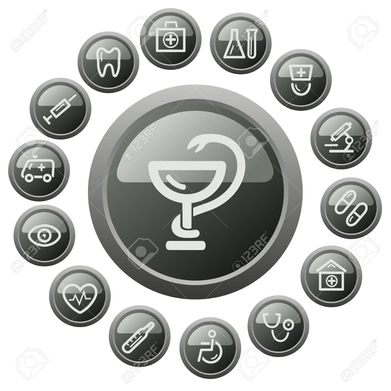 Medical button set Stock Vector - 18014612