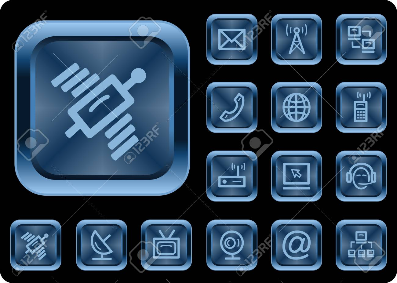 Communication button set Stock Vector - 20100174
