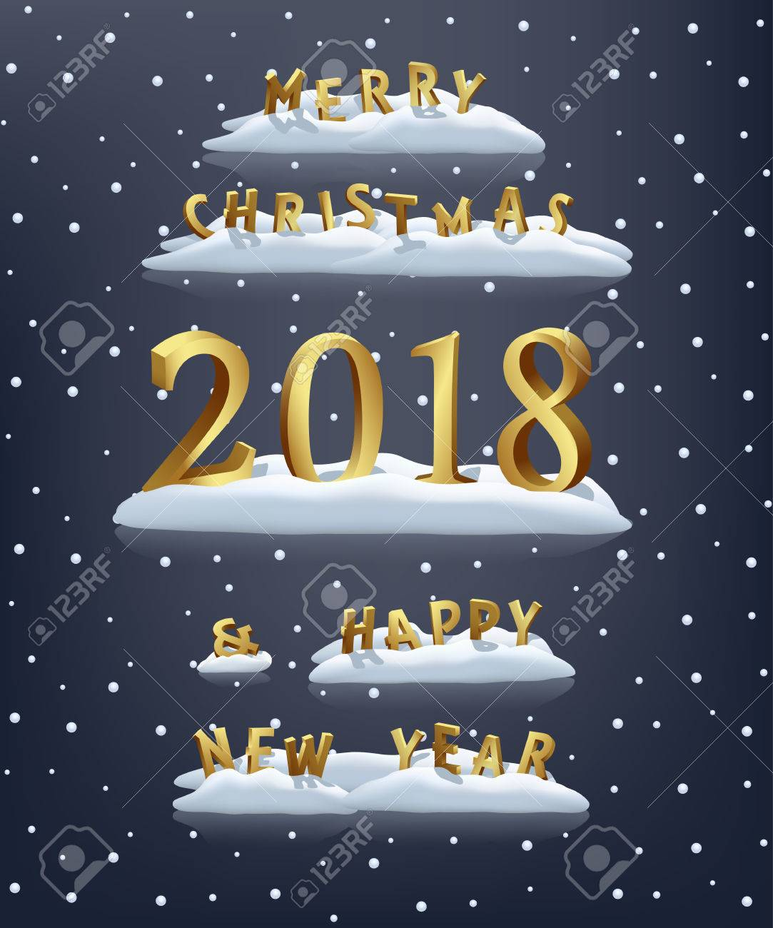 vector vector merry christmas and happy new year 2018 templatechristmas and new year design elements