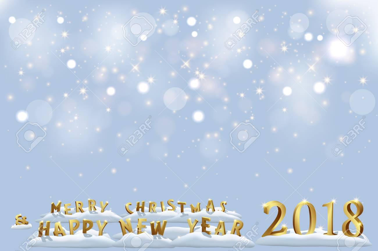 merry christmas and happy new year 2018 holiday template vector christmas and happy new year