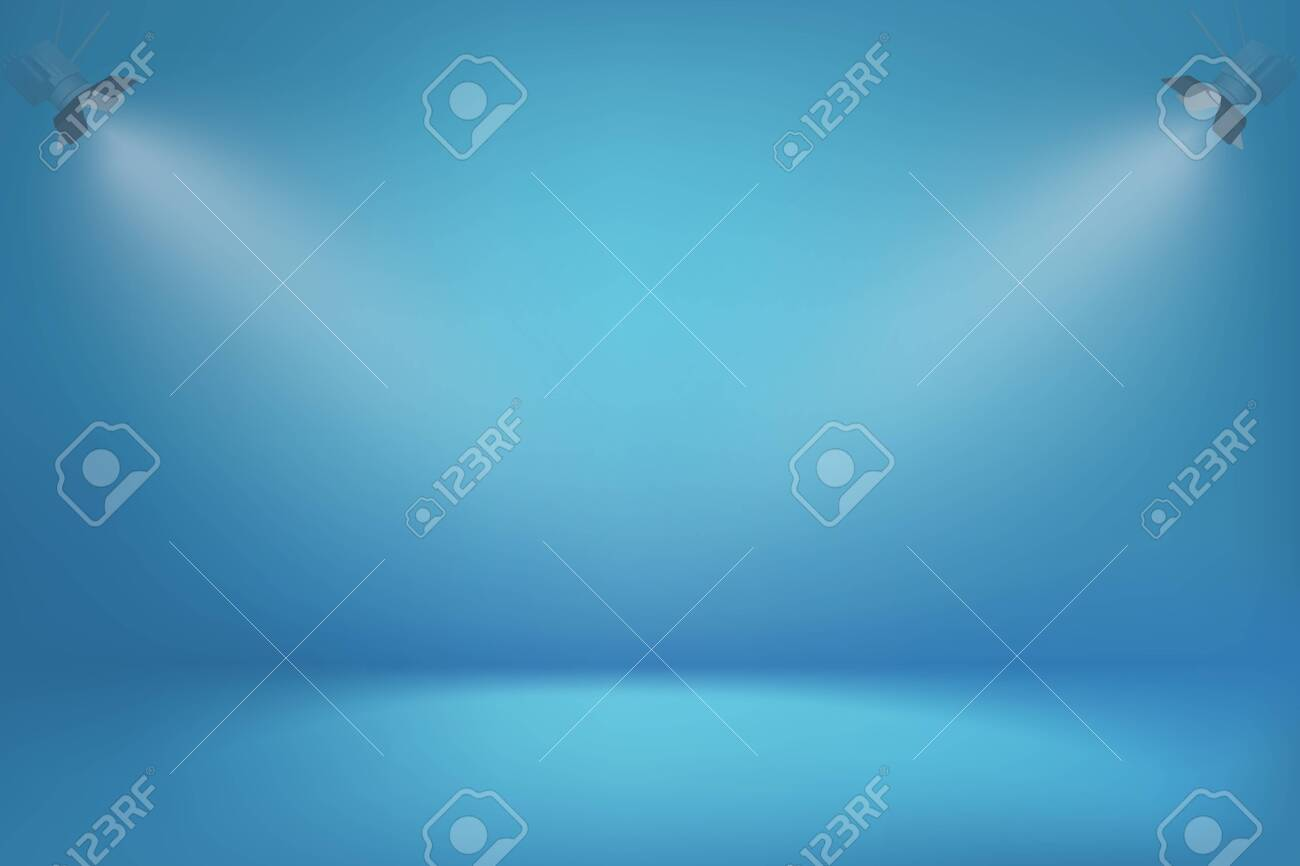 Blue Gradient Vector Background With Spot Lights Minimalistic
