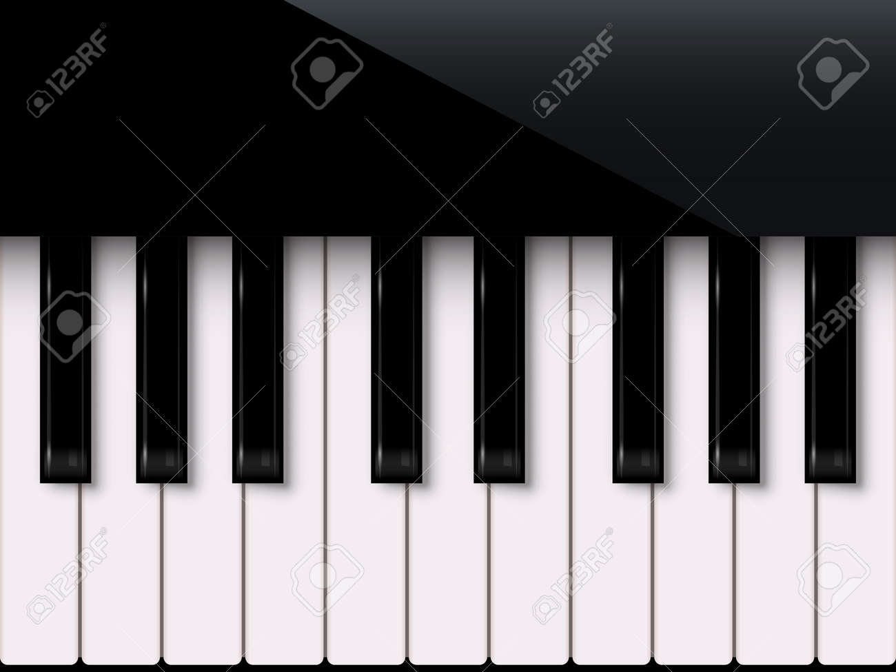 Piano keyboard isolated on white background. Vector music design element - 164671088