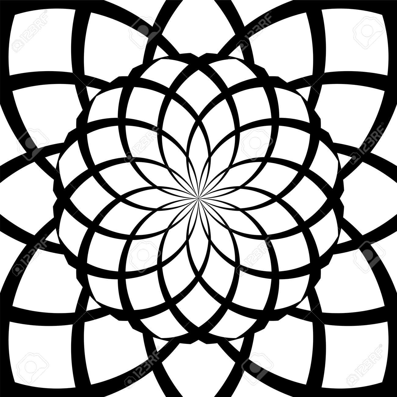 Vector illustration psychedelic spiral effect - 163385723