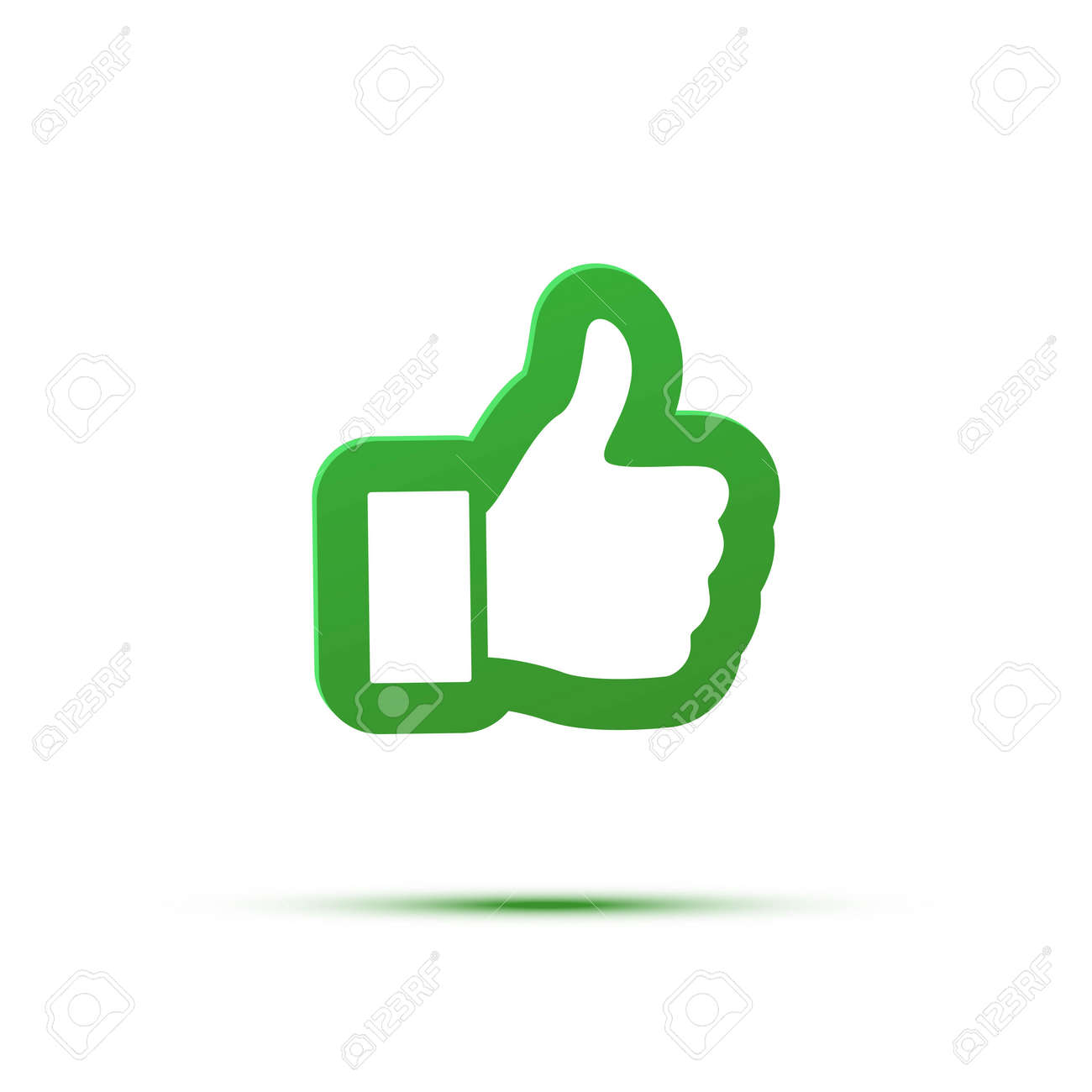 Thumb up like an icon. Good, ok, or follow symbol illustration. - 164030356