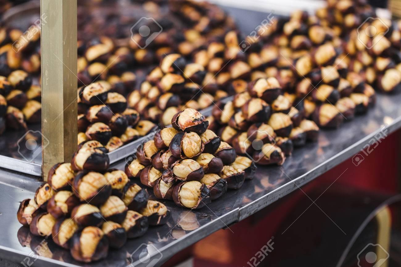 Cocinar Castañas | Castanas Asadas Cocinar Al Aire Libre Comida De La Calle En