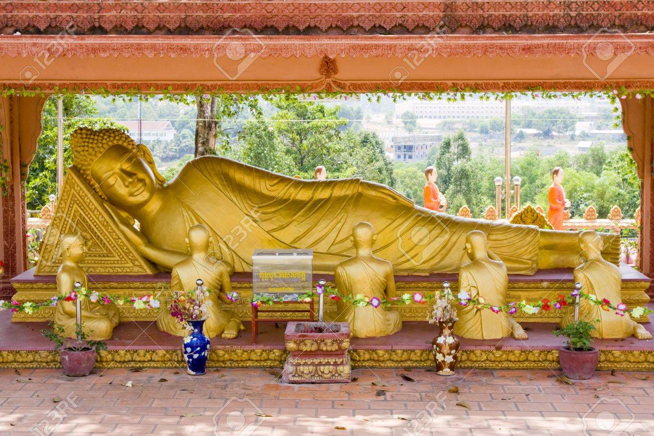 The giant Reclining Buddha in Sihanouk Ville  Cambodia. Stock Photo - 7105611 : reclining buddha images - islam-shia.org