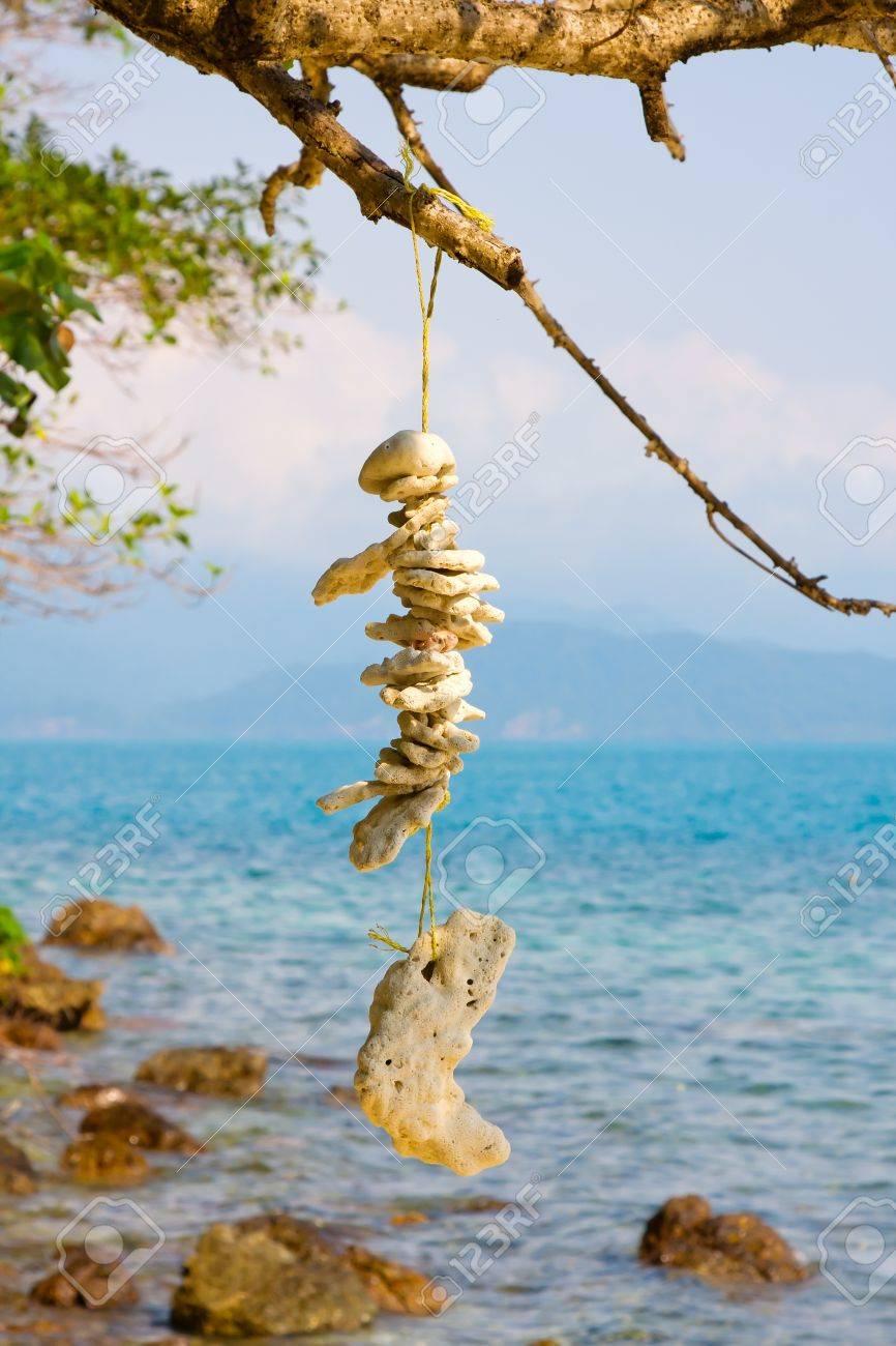 Stone necklace on the island Koh Wai , Thailand Stock Photo - 14322678
