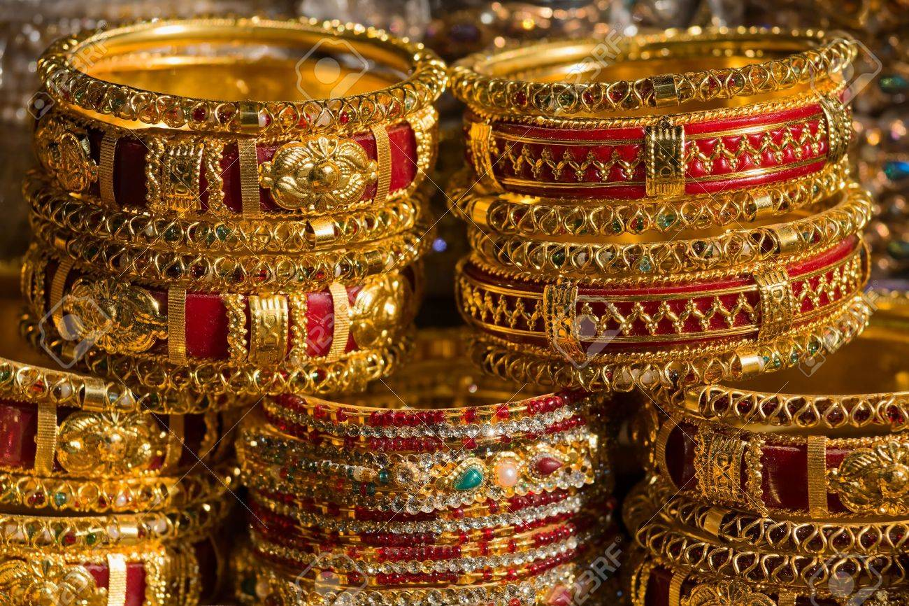 Traditional Indian bangles with different colors and patterns. Stock Photo - 16136508