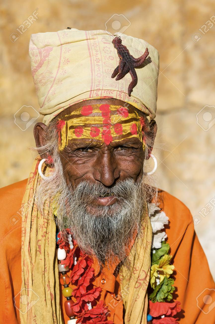 Indian sadhu (holy man). Jaisalmer, Rajasthan, India. Stock Photo - 22720738