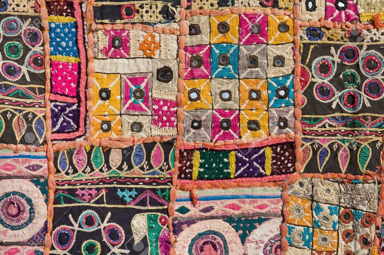 Indien Colore Patchwork De Tapis Au Rajasthan En Asie Banque D