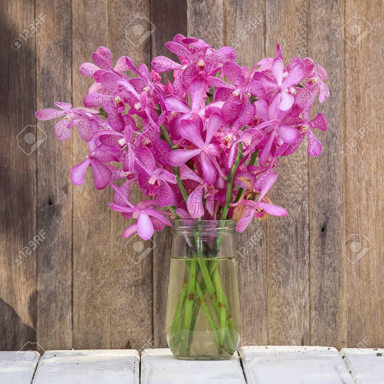 Mazzo Di Fiori Orchidee.Immagini Stock Primo Piano Bel Mazzo Di Orchidee Fiore Su Un