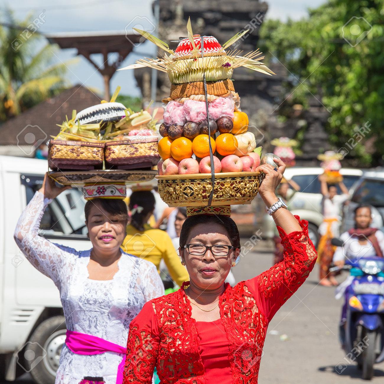 Ubud Bali Indonesia March 19 2015 Unidentified Indonesian